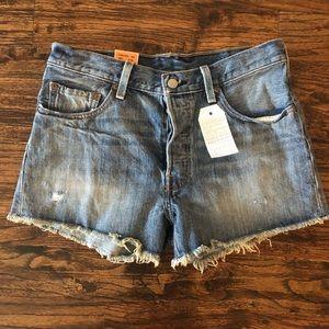 Levi's button fly denim shorts-NWT